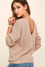 Load image into Gallery viewer, Oversized Deep V Neck Sweater