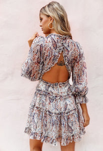 Dream Girl Paisley Dress / Navy