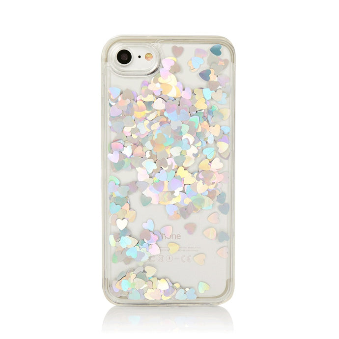 Holographic Hearts iPhone case