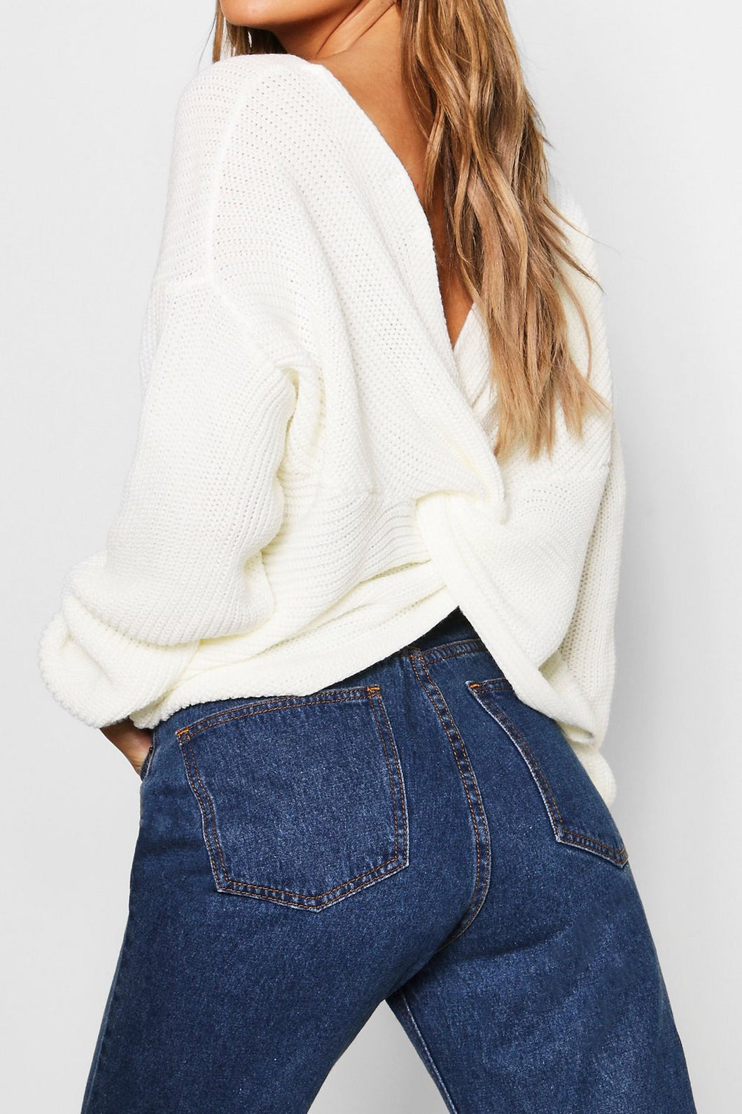 Twist Me Up Sweater in Ivory