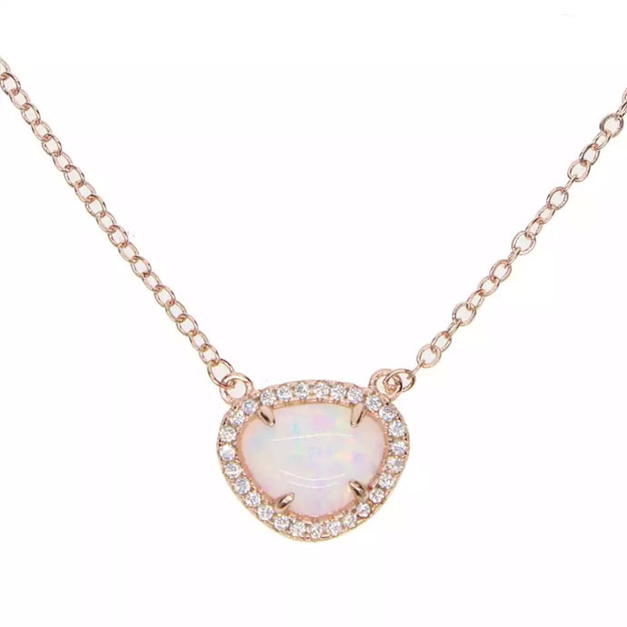 Rose Gold Moonstone Necklace