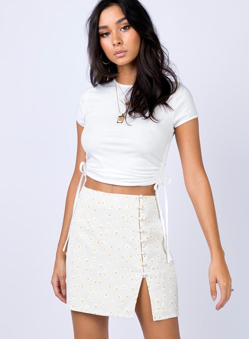 Cute As A Button Mini Skirt