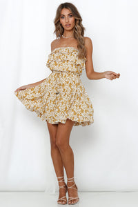 Summer Romance Sleeveless Dress / Lemon