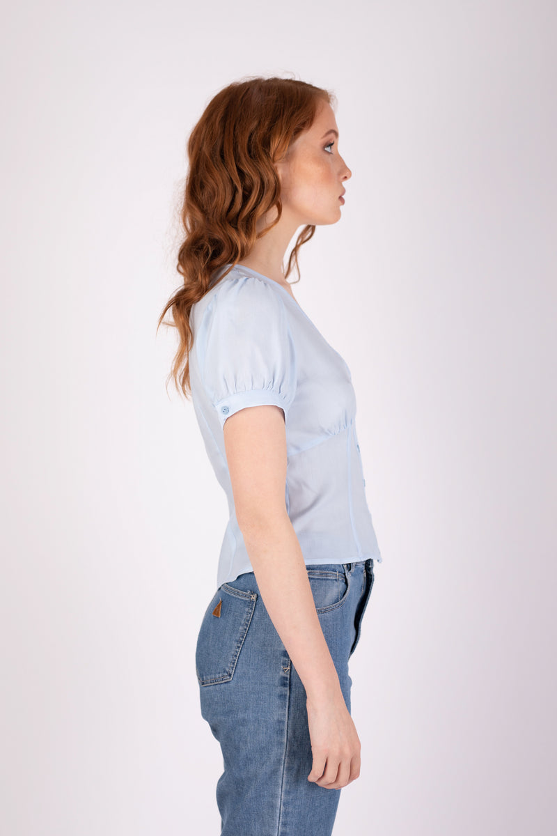 Margot Blouse - Icy Blue