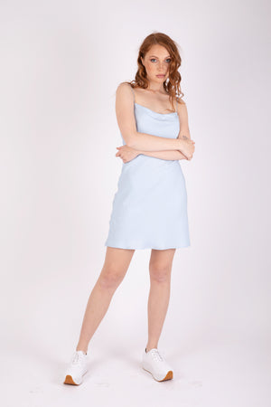 Gia Mini Dress - Icy Blue