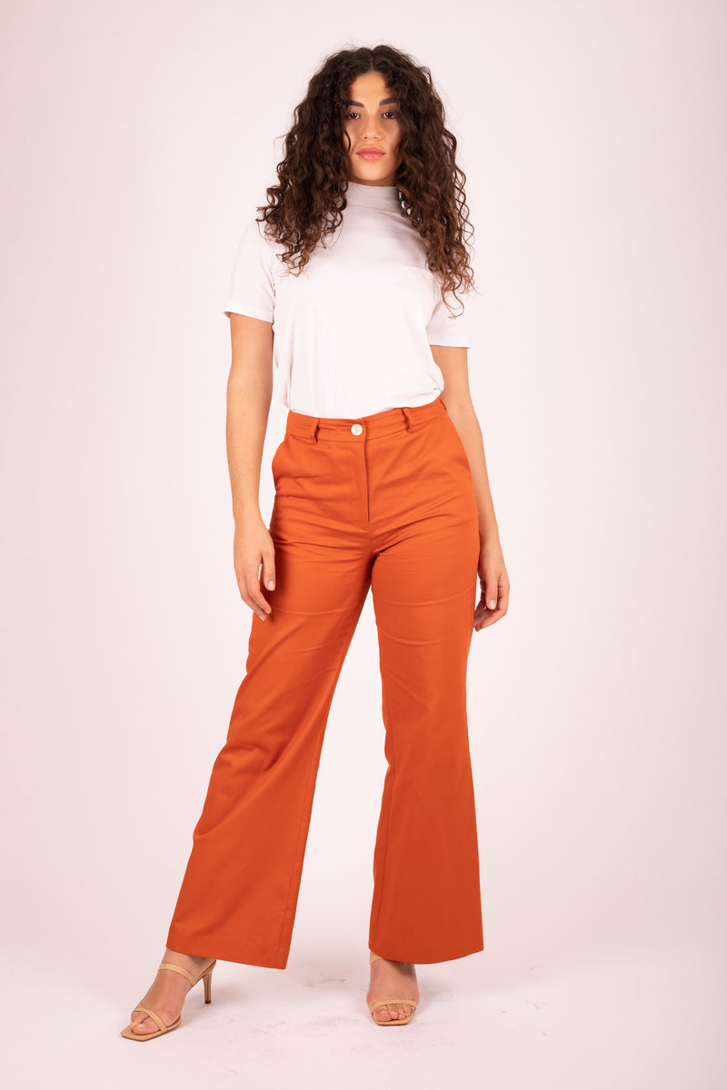 Brooklyn Flare Pant Sweet Potato 3