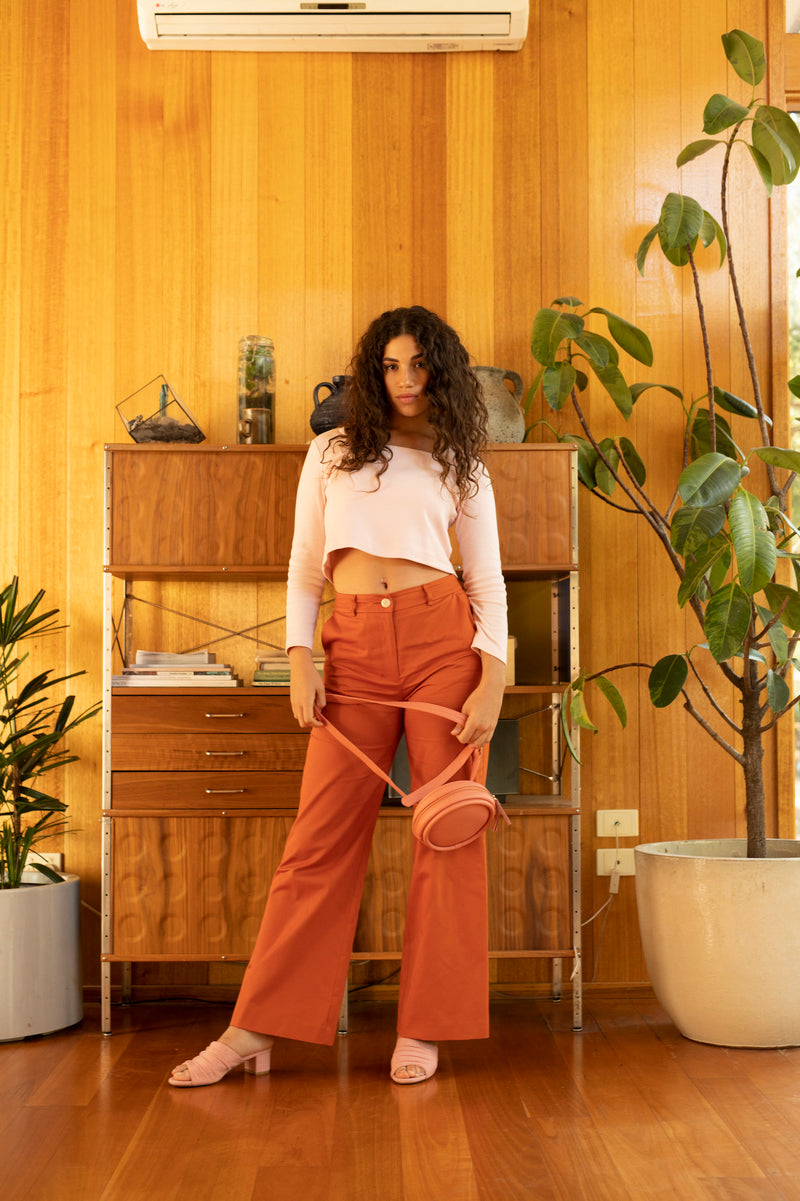 Brooklyn Flare Pant Sweet Potato 4