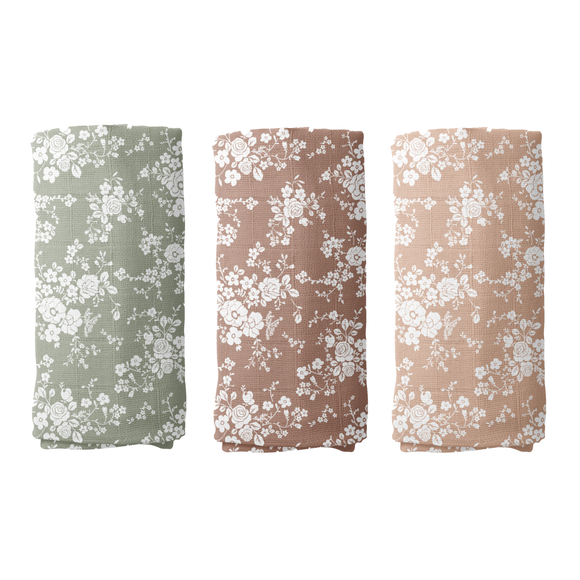 Mini Scout, LLC - Vintage Bouquet Swaddle