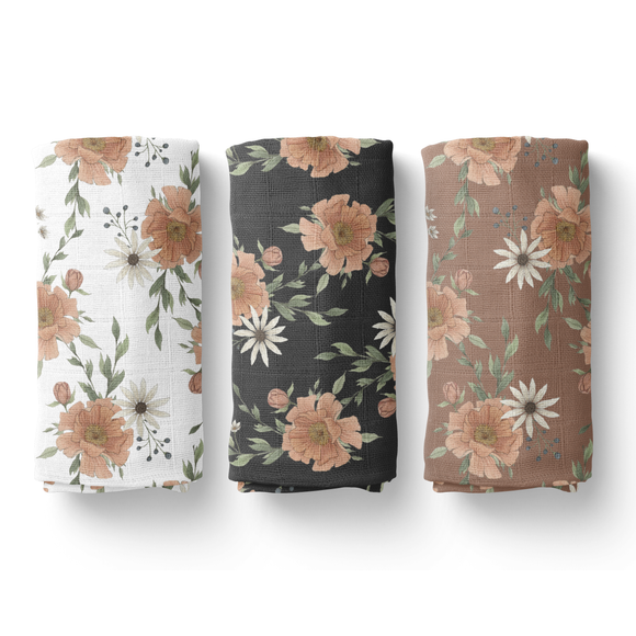 Mini Scout, LLC - Peony Blooms Swaddle