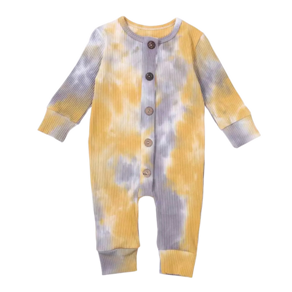 Kimmie Tie-Dye Bodysuit - Yellow