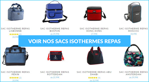 Collection sac isotherme repas