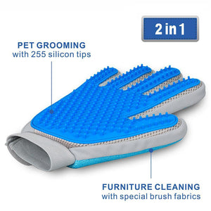 DELOMO 2 in 1 Pet Grooming  Cleaning Glove