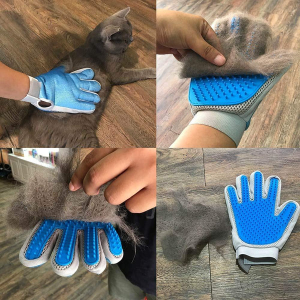 DELOMO 2 in 1 Pet Grooming Deshedding Glove