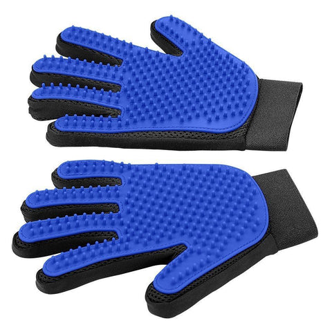 DELOMO 1 Pair Pet Grooming Deshedding Gloves - Blue