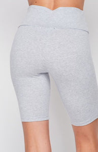 Let's Ride Out Biker Shorts Grey
