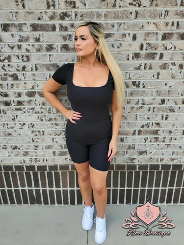 Fly Girl Romper Black