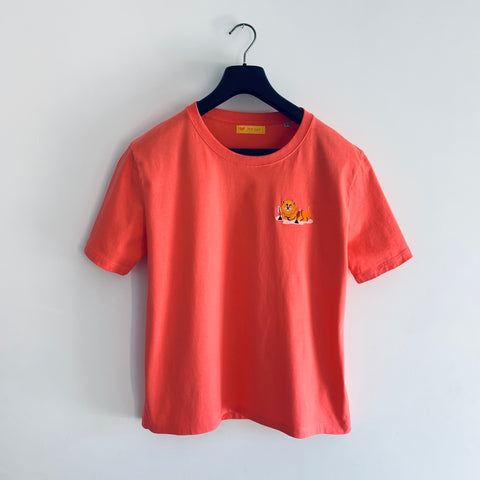 T-Shirt Lion Corail