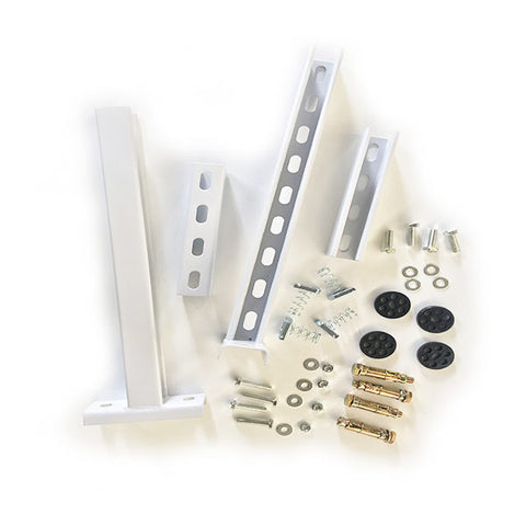Wrap around (white powder coated) aircon bracket (complete set)