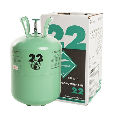 R22 gas - 0.8 kg and 13.6 kg