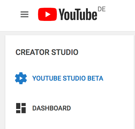 YouTube Studio Classic