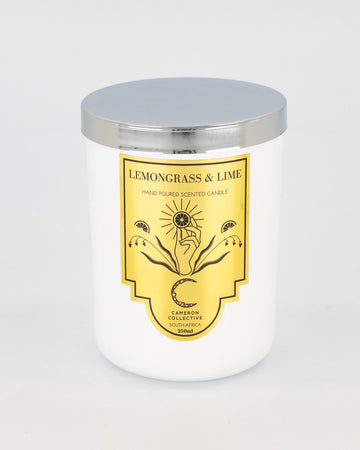 Lemongrass and lime scented candle