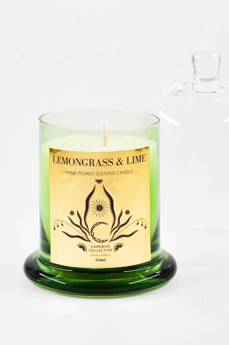 Lemongrass and lime scented candle dome