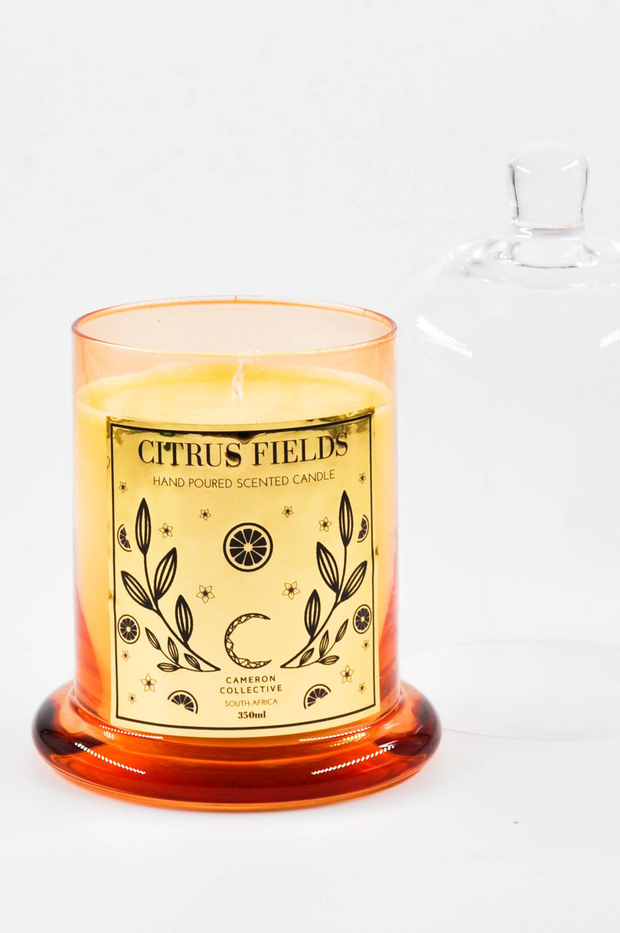 Citrus fields scented candle dome