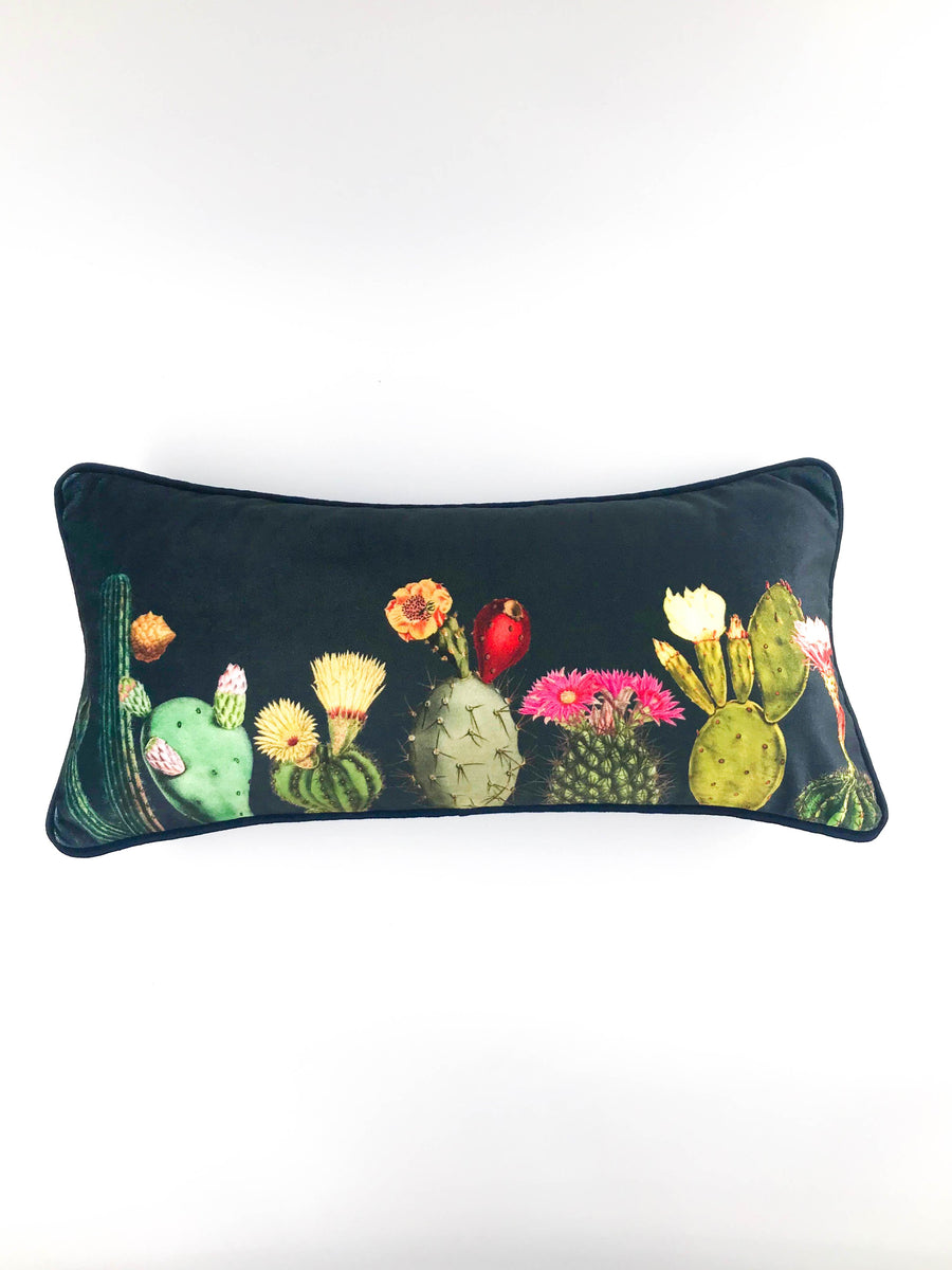 Velvet scatter cushion cactus