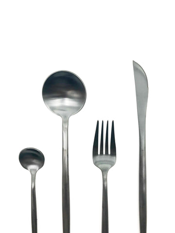 Black cutlery set 16 piece