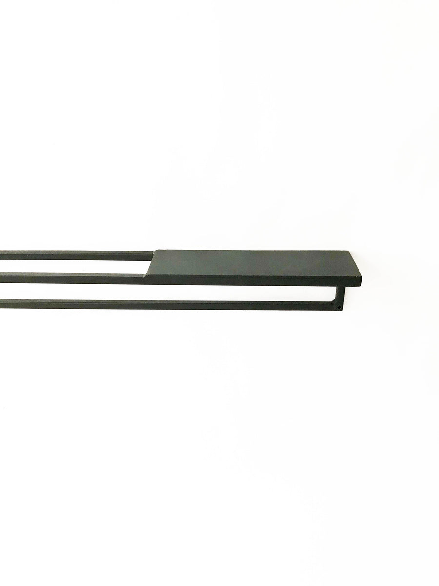 Linear shelf towel rail 600mm