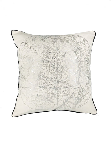 Celestial silver scatter cushion
