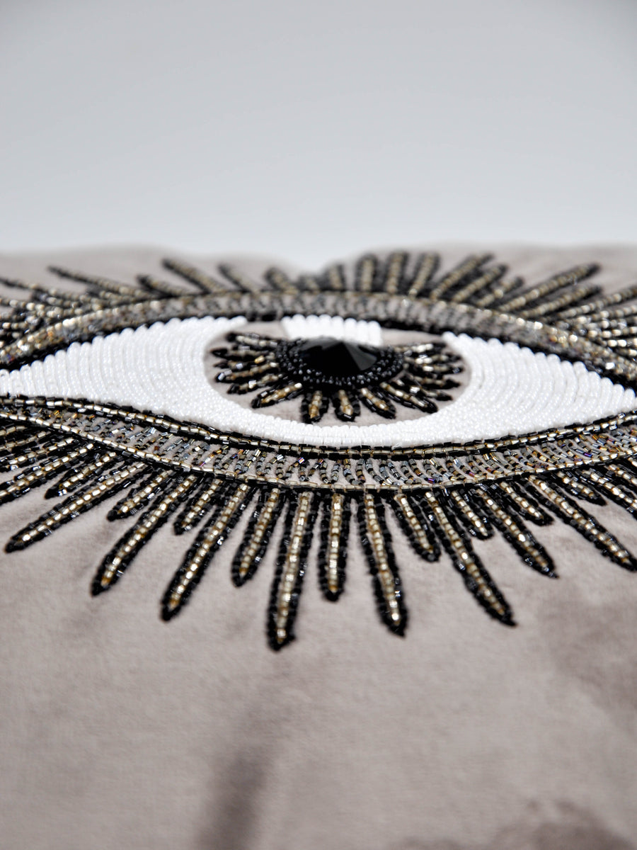 Hand beaded scatter cushion  right eye