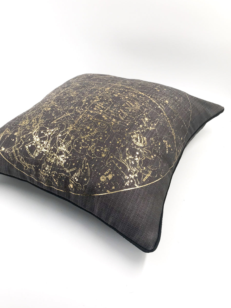 Celestial gold scatter cushion