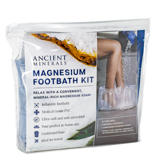 Ancient Minerals® Magnesium Footbath Kit Travel pack available at www.mvpselections.com