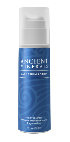 Ancient Minerals® Magnesium Lotion 5 fl oz in airless pump bottle available at www.mvpselections.com