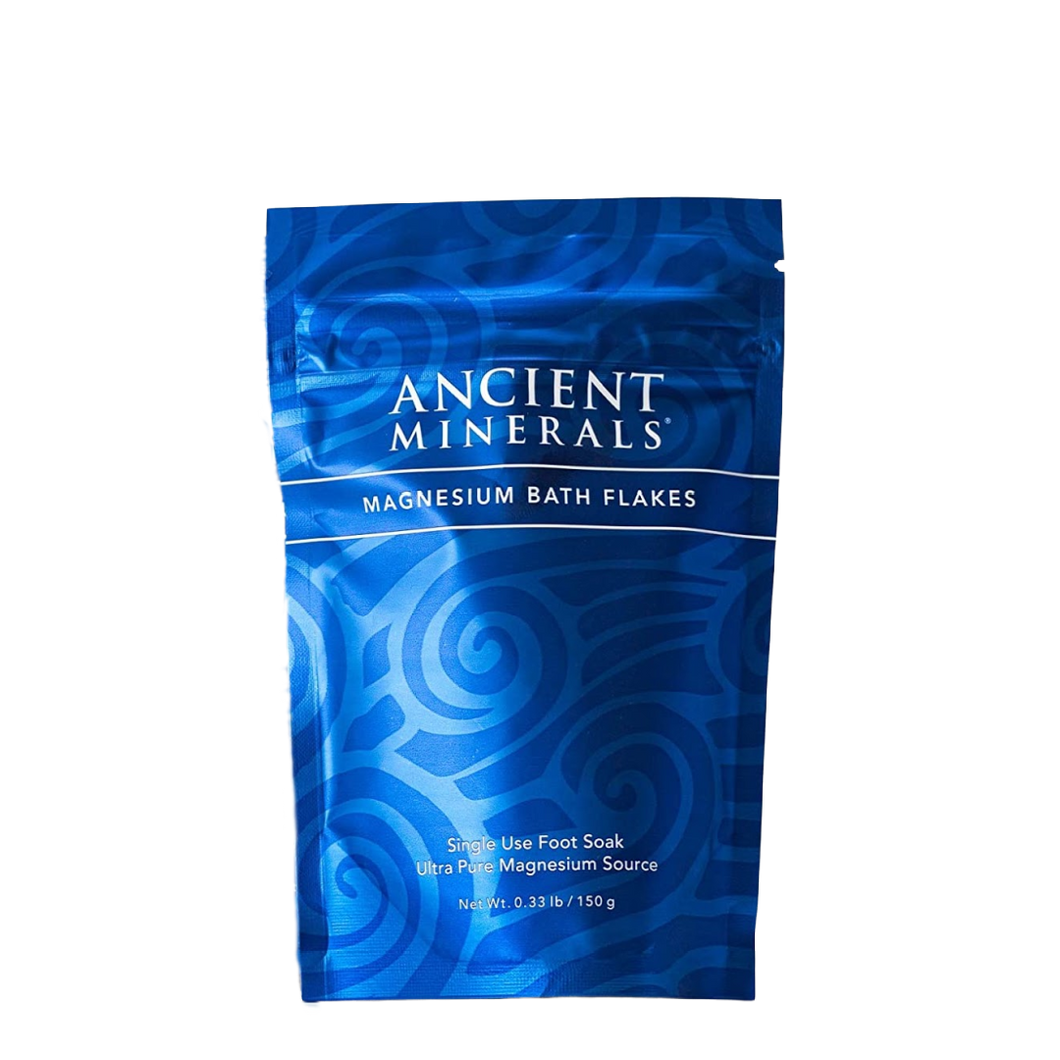Ancient Minerals® Magnesium Bath Flakes Single Use 0.33 lb in Pouch available at www.mvpselections.com