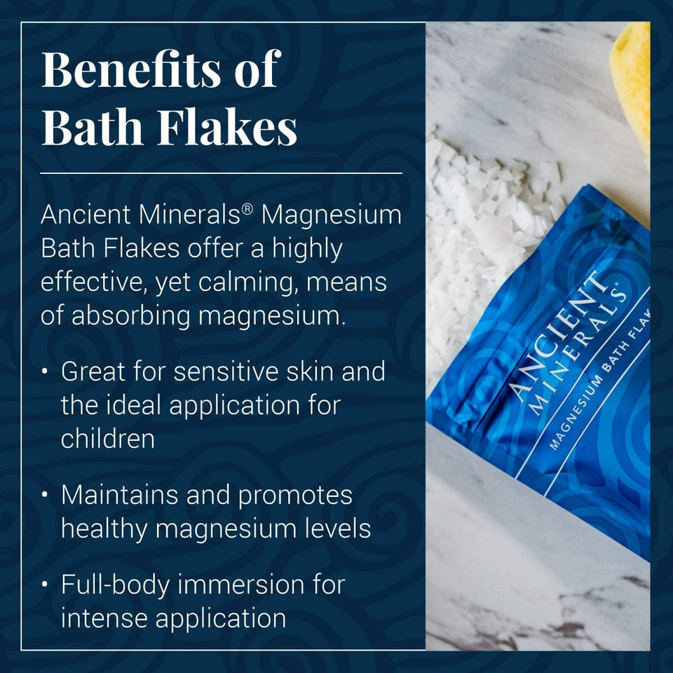 Ancient Minerals Bath Flakes Benefits; great for sensitive skin