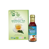 GreenEarths's Moringa Loose Leaf tea 3.5 oz + Coconut Nectar 12 fl oz