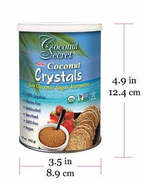 Coconut Crystals (Sugar) 12 fl. oz. 1 Dozen at $8.29/pc