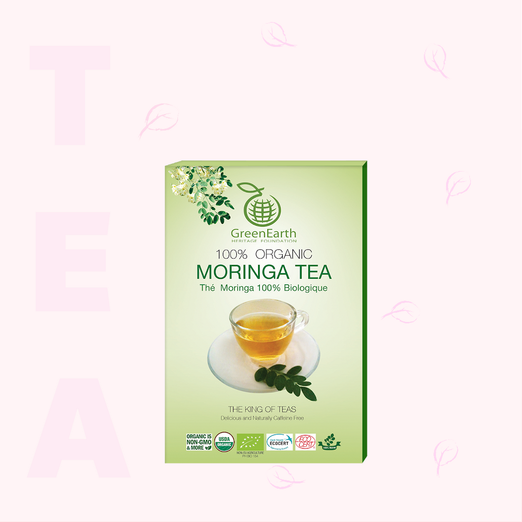 Classic Pack Moringa Loose Leaf Tea 3.5 oz in Box by GreenEarth