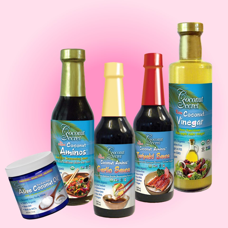 Coconut Secret Soy-free Sauces, Vinegar, Extra Virign Coconut Oil