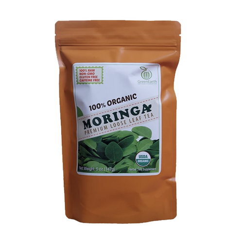 GreenEarth Moringa Premium Loose Leaf Tea 5 oz. (142g)