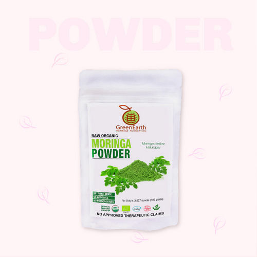 Moringa Powder 3.5 oz in White Pouch by GreenEarth