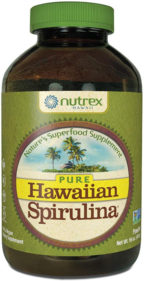 Nutrex Hawaiian Spirulina Pacifica Powder Front bottle 16 oz