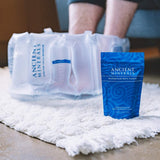 Ancient Minerals Inflatable Foot Bath Kit and Magnesium Bath Flakes Single Use for Foot Soak