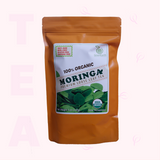 Regular Pack Moringa Loose Leaf Tea 5 oz in Orange Pouch by GreenEarth