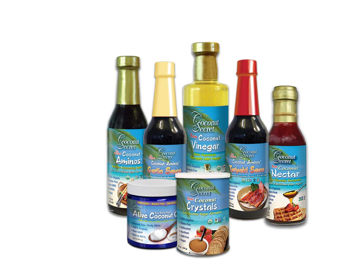 Coconut Secret® Set of 10 (includes 3 Squeeze Bottles)