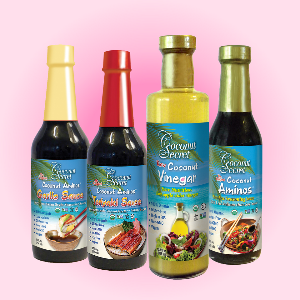 Saucy Soy-Free Coco Seasonings + Coco Vinegar Set of 4