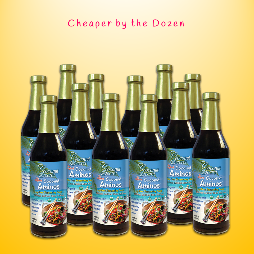 Coconut Secret® Organic Aminos Soy-Free Seasoning Sauce, 16.9 fl. oz. 1 Dozen at $13.25/pc