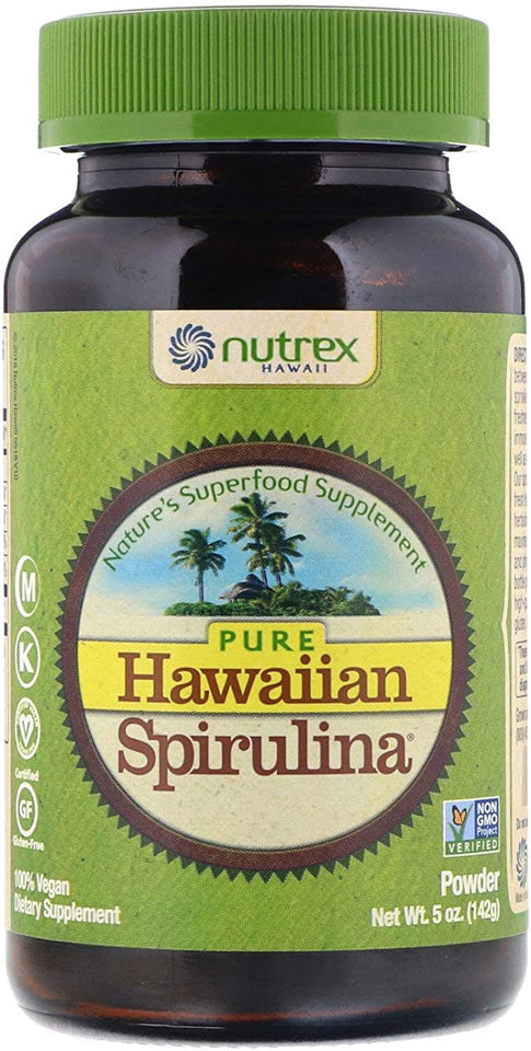 Nutrex Hawaiian Spirulina Pacifica Powder Front bottle 5 oz